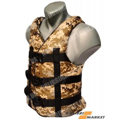 Страховочный жилет BARKAS 110-130 кг камуфляж