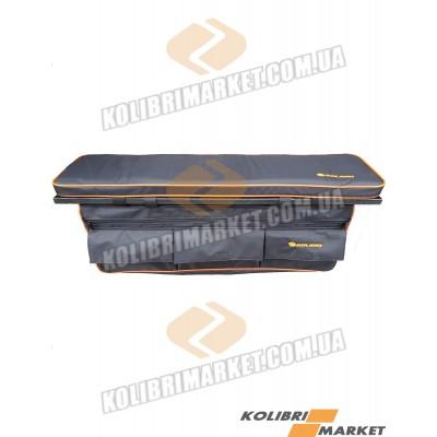 Мягкое сиденье с сумкой КОЛИБРИ 84х20 черный