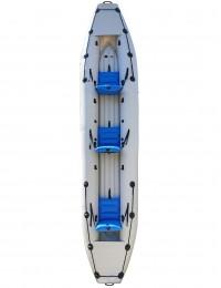 Надувная байдарка BARKAS трехместная бело-синяя