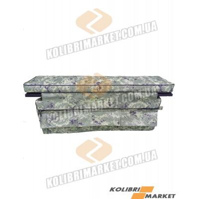 Мягкое сиденье с сумкой 84х20 камуфляж