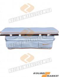 Мягкое сиденье с сумкой (комплект) 65х20 серый
