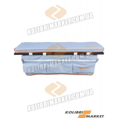 Мягкая накладка с сумкой (комплект) 75х20 серый
