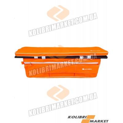 Мягкое сиденье с сумкой КОЛИБРИ 84х20 оранжевый