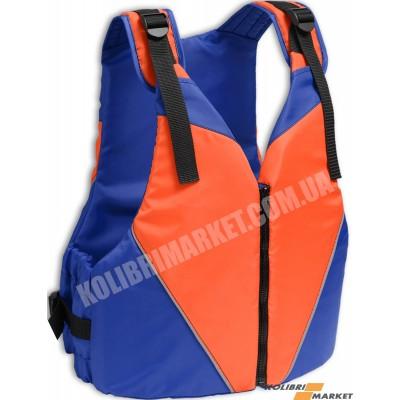 Страховочный жилет KOLIBRI 90-110 кг оранжево-синий