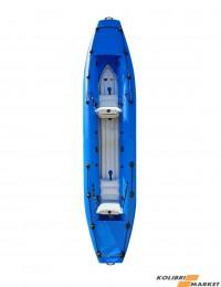 Надувная байдарка Barkas двухместная сине-белая