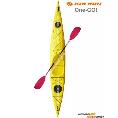 Байдарка KOLIBRI One-GO желтый цвет