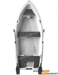 Лодка RIVERDAY RKM-350 пластиковая светло-серая