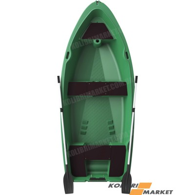 Лодка RIVERDAY RKM-350 пластиковая зеленая