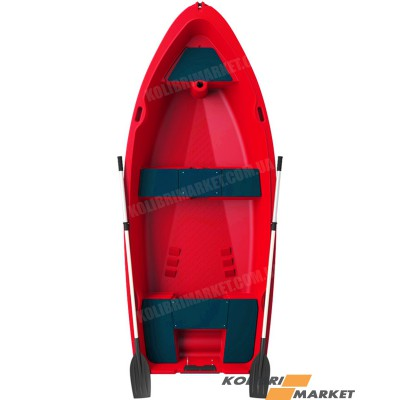 Лодка RIVERDAY RKM-350 пластиковая красная
